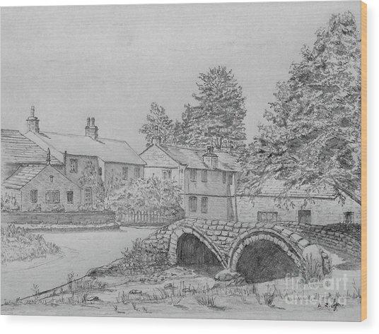 Old Packhorse Bridge Wycoller Wood Print
