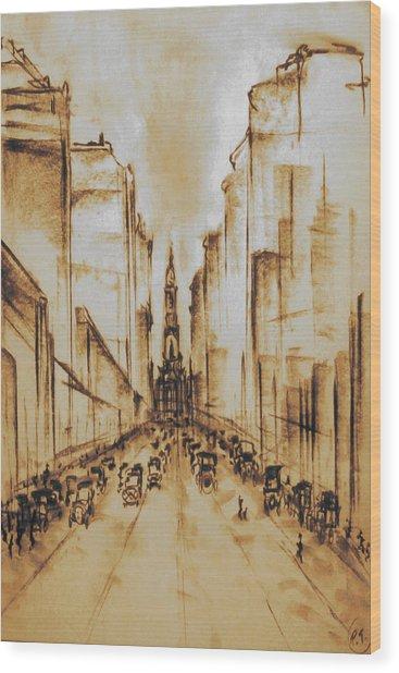 Old Philadelphia City Hall 1920 Wood Print