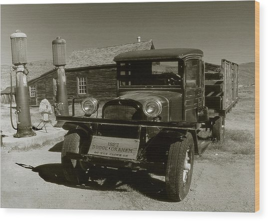 Old Pickup Truck 1927 - Vintage Photo Art Print Wood Print