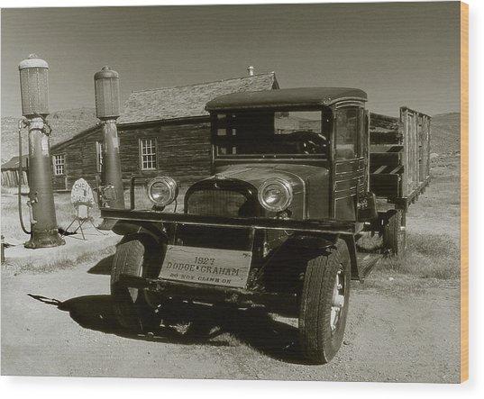 Old Pickup Truck 1927 - Vintage Photo Art Print Wood Print