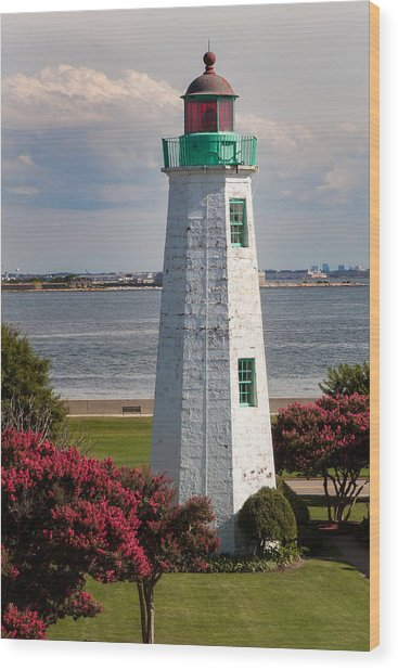 Old Point Comfort Light Wood Print