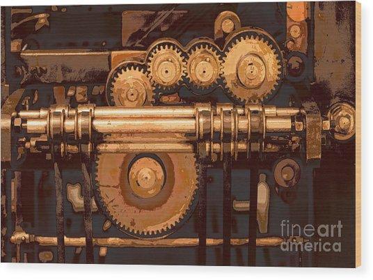 Old Printing Press Wood Print