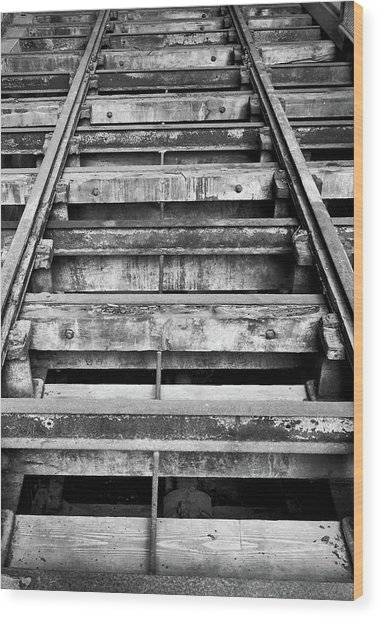Old Rails At Mill City Museum Wood Print