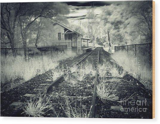 Old Railway Station  Wood Print by Gwenda  Harvey