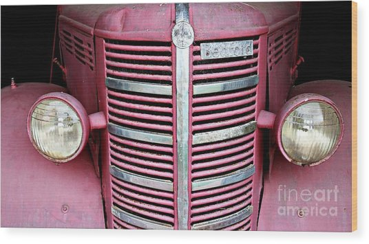 Wood Print featuring the photograph Old Red by Stephen Mitchell