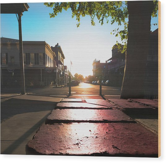 Old Sacramento Smiles- Wood Print