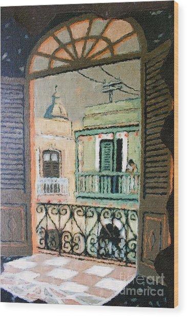 Old San Juan View Wood Print