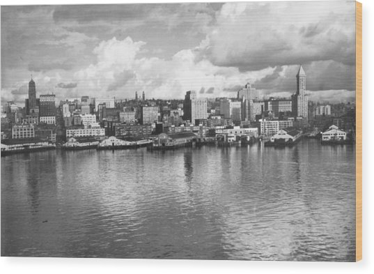 Old Seattle 1949 Wood Print