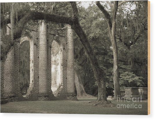 Old Sheldon Church Wood Print