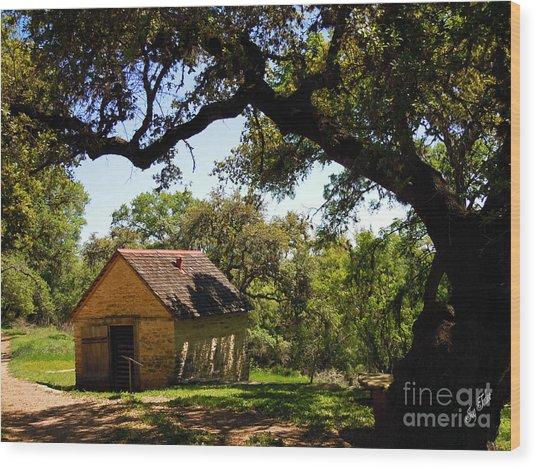 Old Smokehouse Wood Print