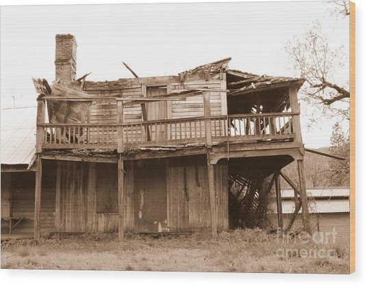 Old Stagecoach Stop Wood Print