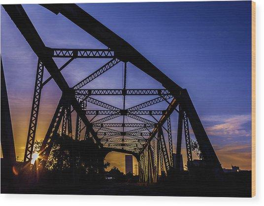 Old Steel Bridge Wood Print