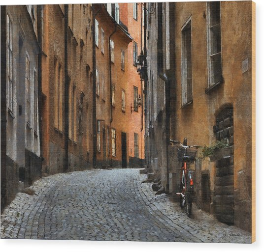 Old Stockholm Wood Print