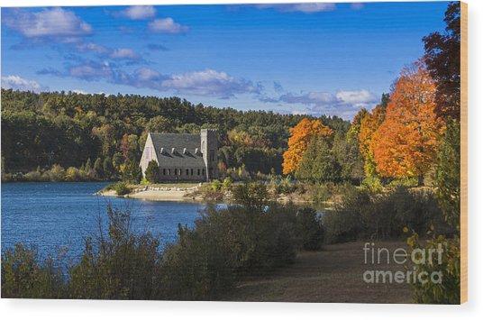 Old Stone Church. West Boylston, Massachusetts. Wood Print