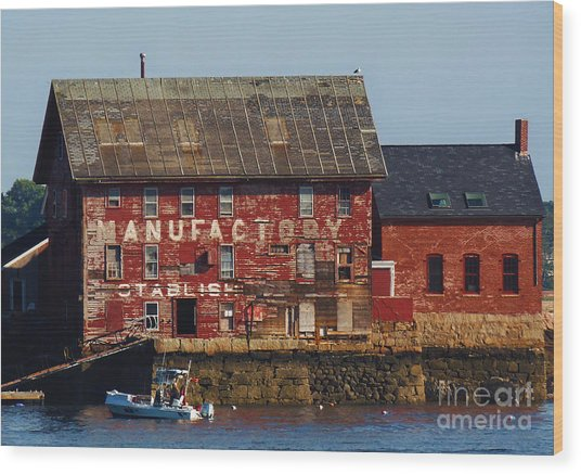 Old Tarr And Wonson Paint Factory. Gloucester, Massachusetts Wood Print