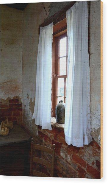 Old Time Window Wood Print