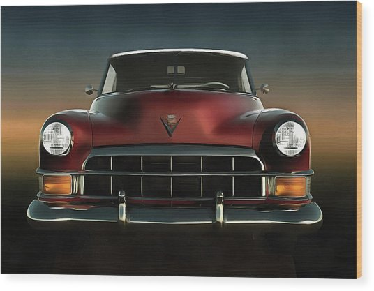 Old-timer Cadillac Convertible Wood Print