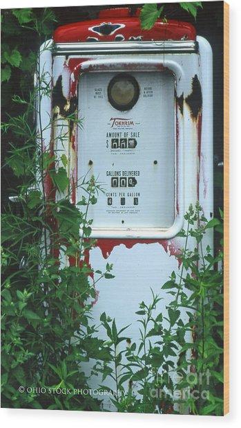 6g1 Old Tokheim Gas Pump Wood Print