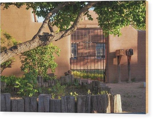 Old Town Albuquerque Pueblo  Wood Print by Gregory Ballos