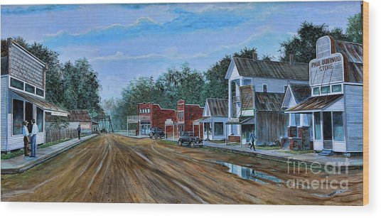 Old Town Breaux Bridge La Wood Print