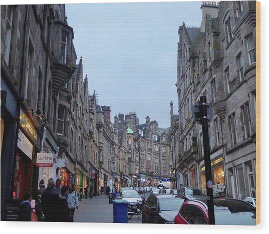 Old Town Edinburgh Wood Print