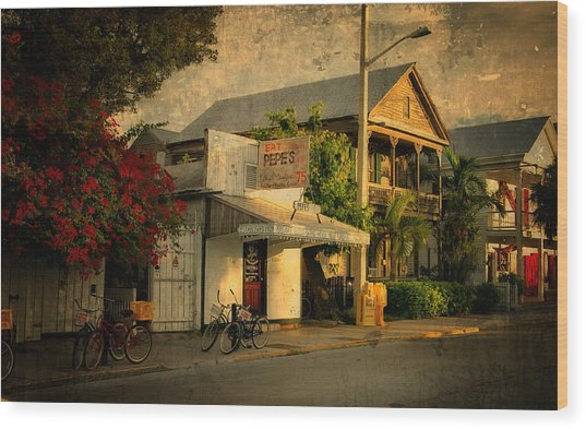 Old Town -  Key West Florida Wood Print