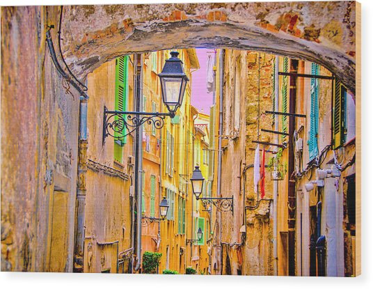 Old Town Nizza, Southern France Wood Print