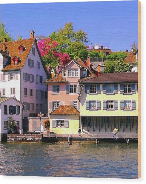 Old Town Zurich, Switzerland Wood Print