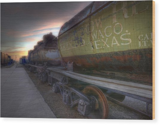 Old Train - Galveston, Tx 2 Wood Print