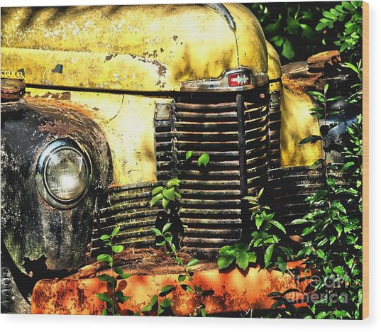 Old Transportation Wood Print by Kathy Jennings