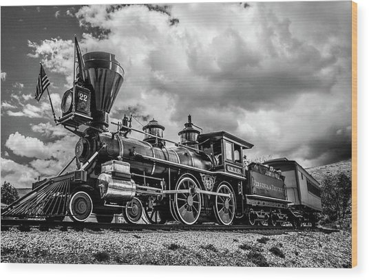 Old West Train Wood Print