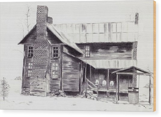 Old Willard Home Wood Print by Penny Everhart