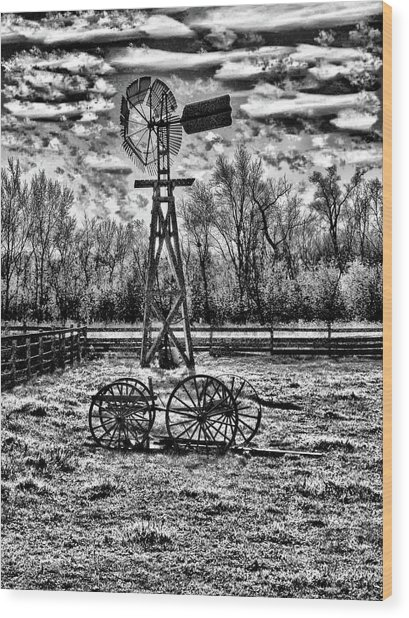 Old Windmill 2 Wood Print by Dennis Sullivan
