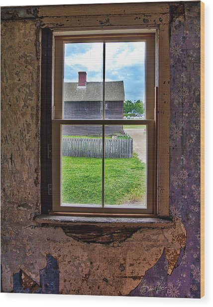 Wood Print featuring the photograph Old Window by David A Lane