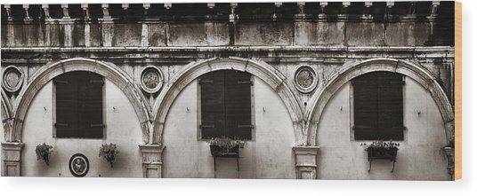Wood Print featuring the photograph Old Window Panorama by Songquan Deng