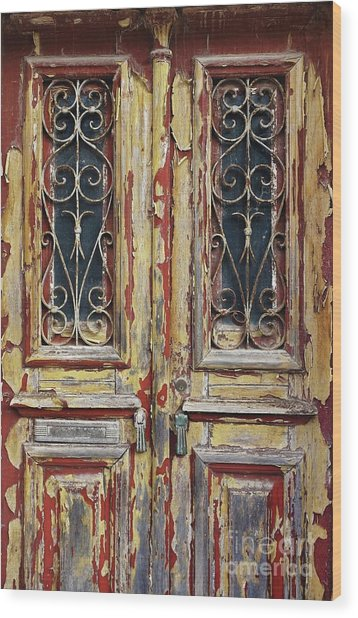 Old Wooden Doors Wood Print