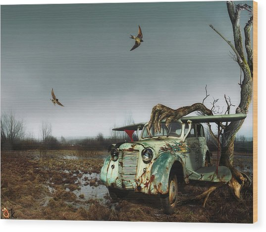 Old_bird Wood Print by Alexander Kruglov