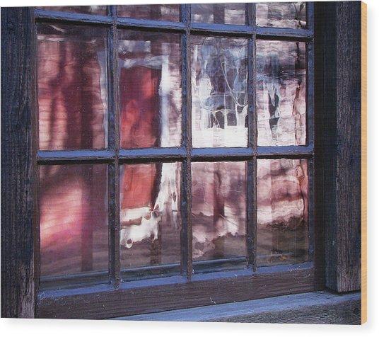 Olde Glass Wood Print