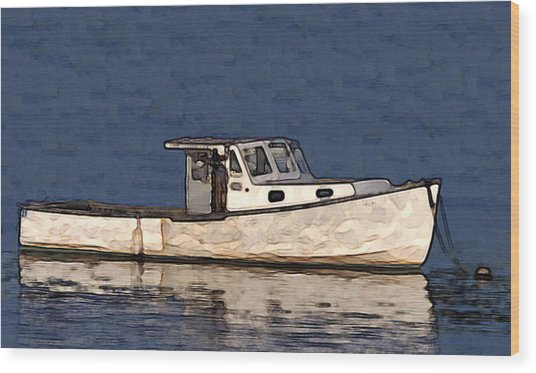 Ole Boy Painting Wood Print