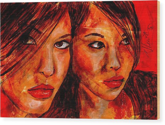 Olga'a Mirror Wood Print