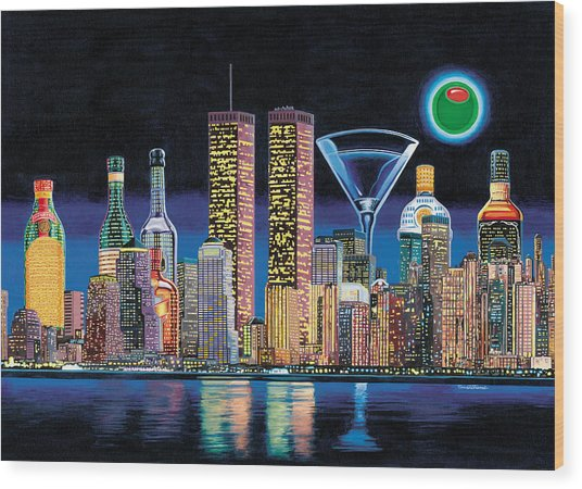 Olive Ny Wood Print by Tim Williams