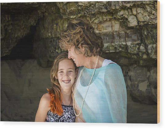 Olivia And Toni Wood Print