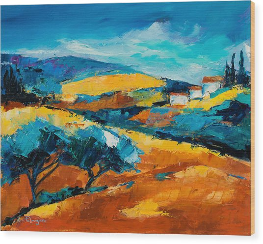 Oliviers En Provence Wood Print