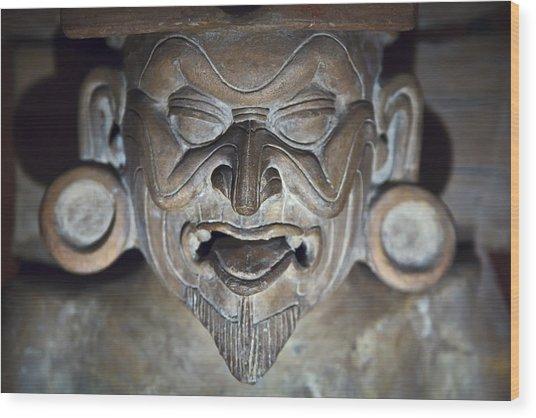 Olmec Statue2 Wood Print