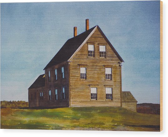 Olsen House Wood Print