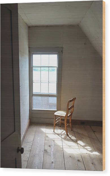 Olson House Chair And Window Wood Print
