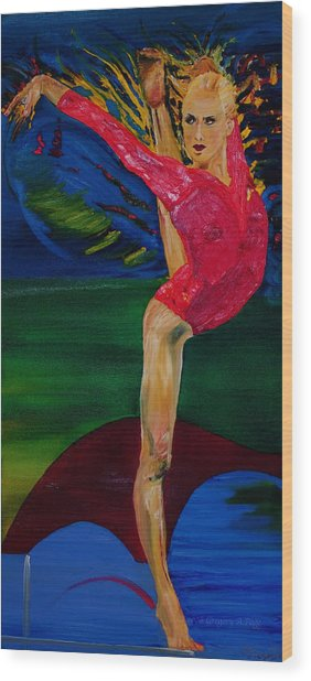 Olympic Gymnast Nastia Liukin  Wood Print by Gregory Allen Page