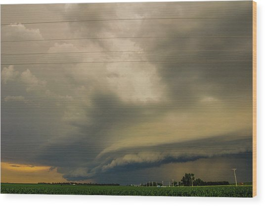 Ominous Nebraska Outflow 007 Wood Print