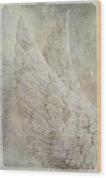 On Angels Wings 2 Wood Print