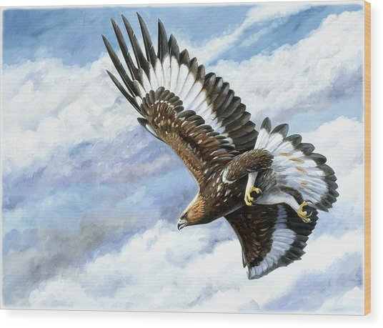 On Attack Wood Print by Dag Peterson